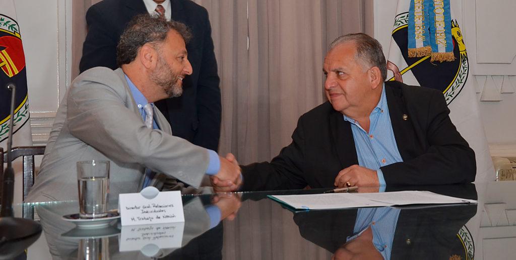 Firma de acta acuerdo de servicio de conciliación  laboral obligatoria.